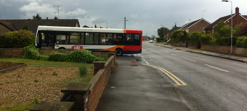 Is the number of people in Peterborough using buses on the decline?