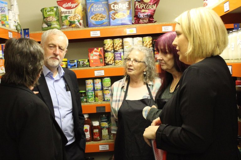 Jeremy Corbyn at Food Bank